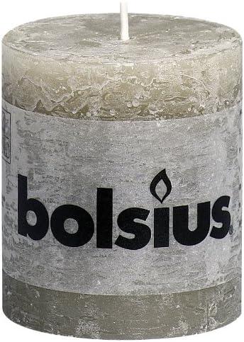Rose Bolsius Bougie pilier Cire de paraffine