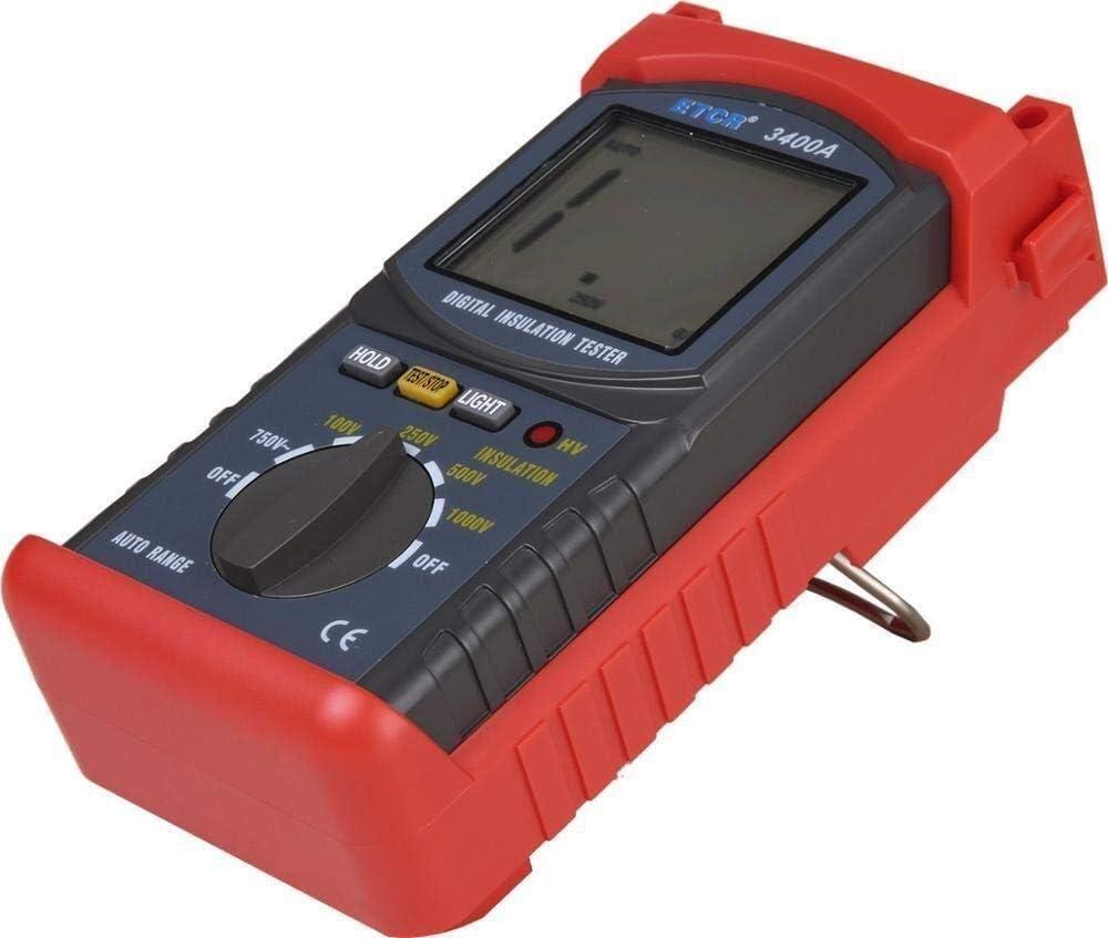 JF-XUAN Resistance Tester Resistance Current Detection High Voltage 1KV Insulation Resistance Tester ETCR3400A