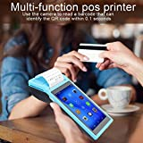 Android POS Terminal Receipt Printer, 58mm Handheld Barcode Scanner Printer with 5.5in IPS Display, Support 3G, WiFi, BT3.0/4.0, Quad Core