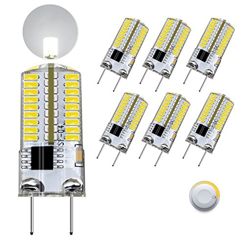 DiCUNO G8 LED Bulb Dimmable, 3W Daylight White 6000k, G8 Bi Pin Base Light for under Cabinet Counter Microwave, 30w Equivalent Halogen Replacement, 6-Pack,NOTE: Check Size (Picture 3) Before Purchase!