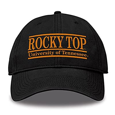 The Game NCAA Tennessee Volunteers Bar Design Classic Relaxed Twil Hat, Black, Adjustable by MV CORP. INC