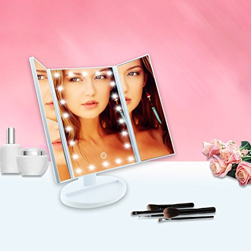 Samyoung Makeup Vanity Mirror with LED Lights,Touch Screen LED Makeup Mirror with 2X/3X Magnification,180︒ Rotation countertop Cosmetic Mirror by Samyoung (Image #7)