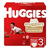 Huggies Little Snugglers Baby Diapers, Size 3 (fits 16-28 lb.), 156 Ct, Economy Plus Pack (Packaging May Vary): more info