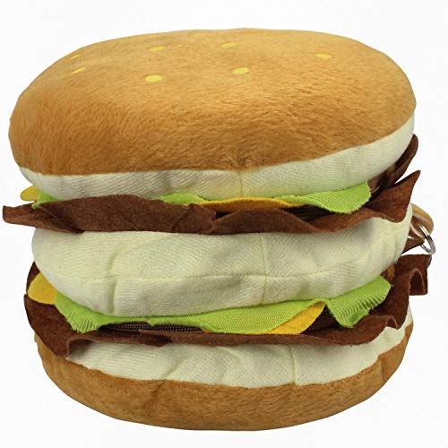 Storage Disney Media (Winstory Cute Hamburger Design Soft Plush CD/DVD Holder Carry Case Storage Bag Kids Toy)