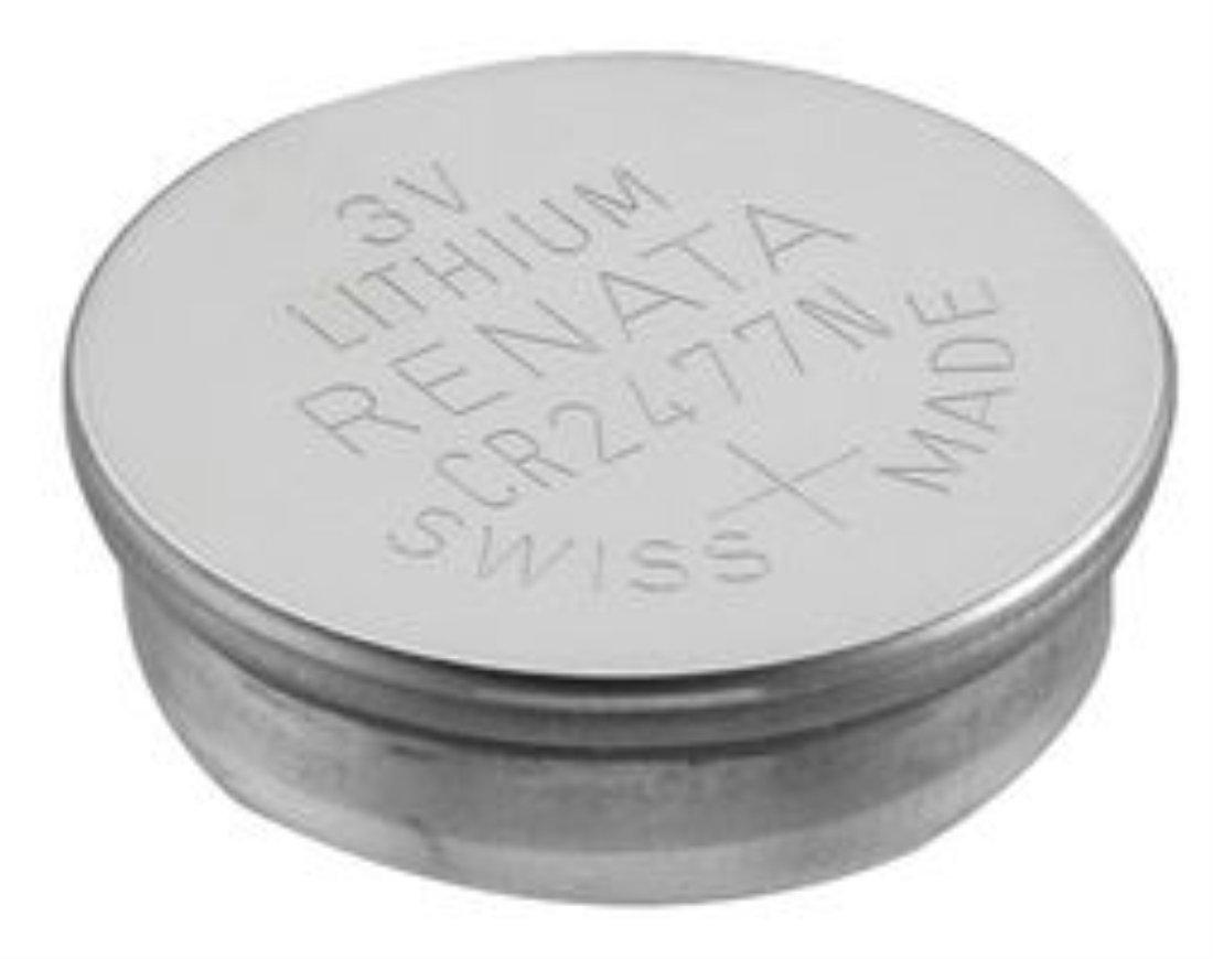30 Renata CR2477N 3 Volt, 950mAh, Lithium Coin Battery, On Tear Strip