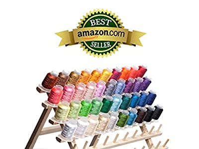 40 Spools Polyester Embroidery Machine Thread Bright and Beautiful Colors for Brother Babylock Janome Singer Pfaff Husqvarna Bernina Machines by Kolors