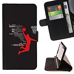 - Basketball Hero Success Succeed Star - - Prima caja de la PU billetera de cuero con ranuras para tarjetas, efectivo desmontable correa para l Funny HouseFOR LG OPTIMUS L90