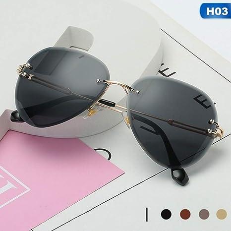 Yangjing-hl Gafas de Sol sin Montura Mujer Diseñador de la ...