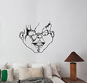 Amazon Com Chucky Child S Play Face Wall Art Decal Vinyl