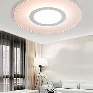 DealMux Modern Indoor Decor LED Ceiling Lamp Acrylic For Bedroom Corridor WARM WHITE SIZE S
