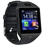 JIKRA Bluetooth Smart Watch GT08 Compatible with All Smartphones with Camera & SIM Card Support (Golden)