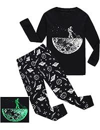Valentine's Day Boys Gift Pajamas Glow-In-The-Dark Toddler PJS Kids Clothes Sleepwear
