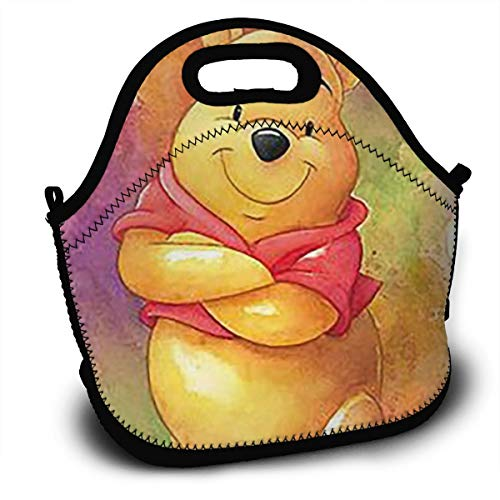 - YHHCZX Winnie The Pooh Lunch Box Insulated Personalized Tote Lunch Food Bag to Seize Easy Day - Lunch Bags Designed for Men, Adults, Women,Student