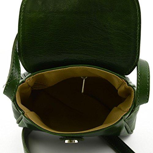 Mini Tracolla In Pelle Per Donna Colore Verde - Pelletteria Italiana - Borsa Da Donna