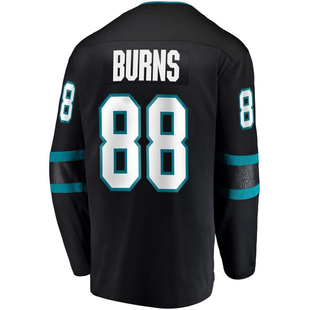 Mens Hockey Jersey Black S-XXXL(Black, Small) by Brent Burns jersey Sharks (Image #1)