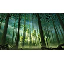 MTG Playmat Artists of Magic Premium - FOREST CASTLE Autographed by the Artist JOHN AVON