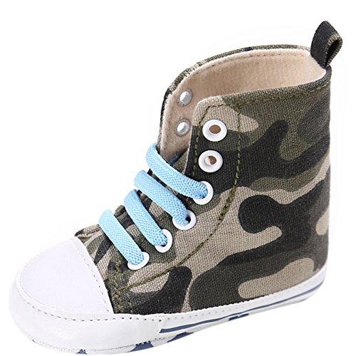 Etrack-Online Baby Sneakers - Zapatos primeros pasos de Lona para niño camouflage