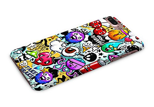 Cover Affair Funky / Cool / Funny Cartoon Printed Designer Slim Light Weight Back Cover Case for Apple iPhone 7 Plus - 2016 / Apple iPhone 8 Plus - - Cool Cartoons