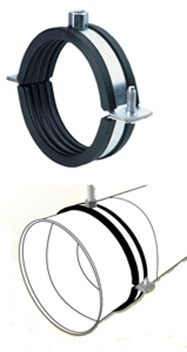 24'' Quiet Duct Work Hanger-Round Ducting Noise Cancelling Bracket HVAC