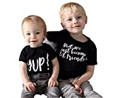 Best Print Wear Clothing Friend Gifts Shirts - Seven Young Infant Baby Brother Matching Letter Print Review