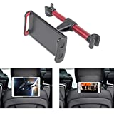 Tablet Car Seat Headrest Mount, Universal Mount Holder For iPad, Samsung Galaxy, Amazon Kindle Fire HD,Nintendo Switch, Fits All 4-10.5 inch Smartphones And Tablets (Balck-Red)