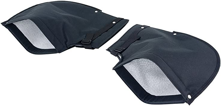WINWEY Motorcycles Handlebar Bar Muffs Thermal Hand Protection Mitts Gloves(Big Mouth)Black for Snowmobiles Motorbikes Scooters Waterproof Windproof