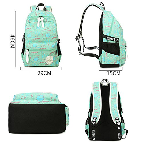 ... Yokeeyoo - Bolso mochila para mujer verde azul claro Free Azul ...