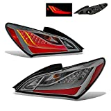 SPPC Smoke Lens LED Taillights Pair For Hyundai Genesis Coupe - (Pair)