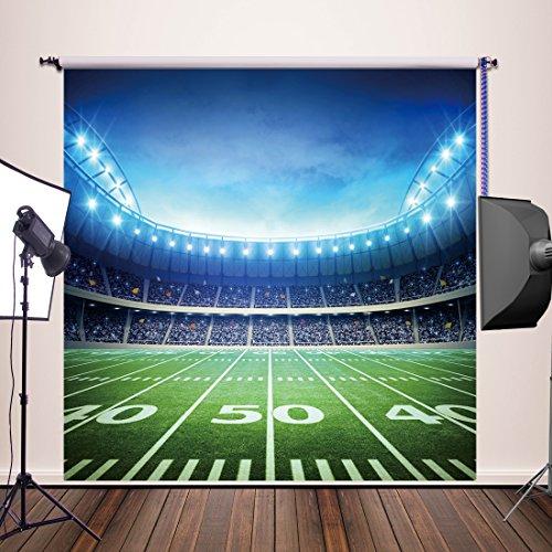 HUAYI Football Field Photography Backdrops Newborn Photography Pops Football Field Backdrop for family Party Thin Vinyl 8x8ft YJ-024 ()