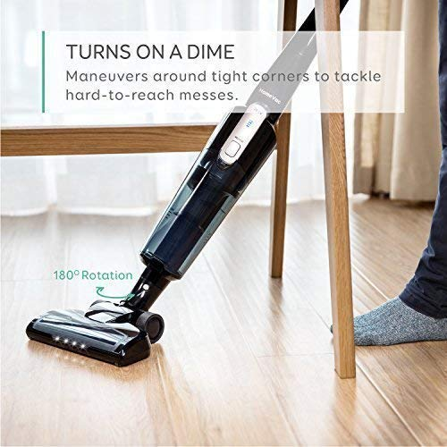 eufy HomeVac Lightweight Cordless Upright-Style Vacuum Cleaner, 28.8V 2200 mAh Li-ion Battery Powered Rechargeable Bagless Stick and Vacuum with Wall Mount - Black by eufy (Image #6)