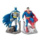 DC Batman and Superman Bookends