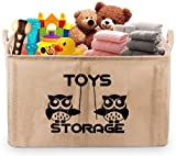 Gimars 22'' Upgrade Well Standing Toy Chest Baskets Storage Bins for Dog Toys, Kids & Children Toys, Blankets, Clothes - Perfect for Playroom & Shelves