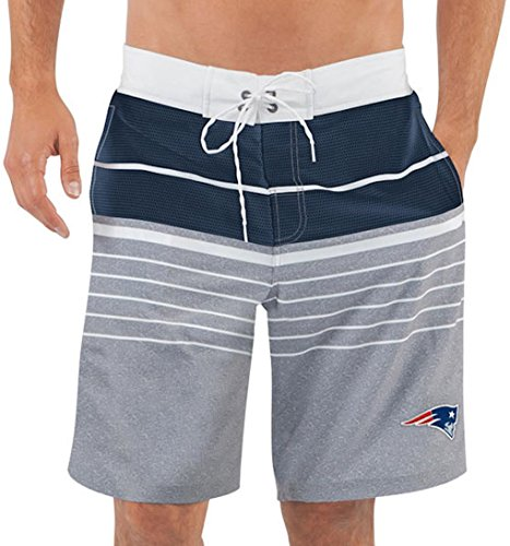 Men's New England Patriots G-III Sports by Carl Banks Heathered Gray/Navy Balance Quick Dry Swim Trunks - Swim Mens Suites