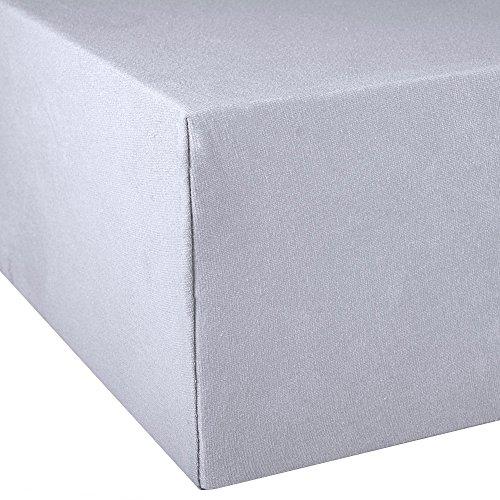 aqua-textil Exclusiv sábana Ajustable 90x200-100x220 algodón Elastano Spandex Hoja 0010720 Lila: Amazon.es: Hogar