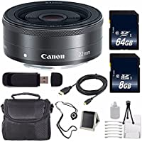 Canon EF-M 22mm f/2 STM Lens + 64GB SDXC Class 10 Memory Card + 8GB SDHC Class 10 Memory Card 6AVE Bundle 9