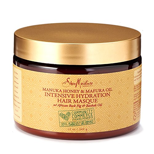 SheaMoisture Manuka Honey & Mafura Oil Intensive Hydration Masque, 12 Ounce (Intensive Deep Conditioner)