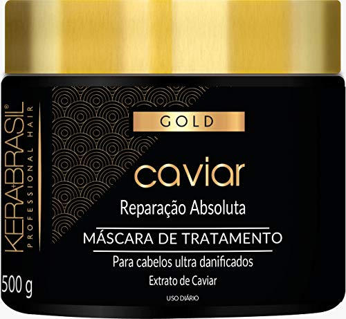 Kerabrasil Gold Black Caviar Absolute Repair Mask for Dry or Damaged Hair 500 g