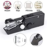 Handheld Sewing Machine Portable Hand Sewing Machine FineWish Cordless Stitching Machine Mini Stitch Craft Machine DIY Home Travel for Fabric Clothing Kids Cloth Pet Clothes (Battery Not Included)