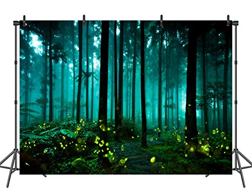 (Sensfun 10x6.5ft Halloween Backdrops Firefly Forest Wall Vinyl Background for Photography Party Photo Booth)
