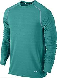 Nike Men's Dri-Fit Sprint Crew Long Sleeve Running Shirt 598973 383