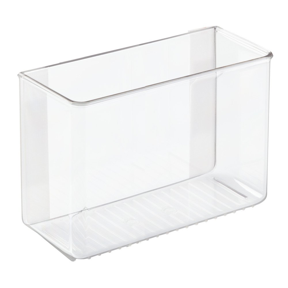 InterDesign AFFIXX, Peel-and-Stick Adhesive Organizer for Laundry & Utility Room, Closet - 3.5'' x 8'' x 5.5'', Clear