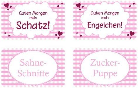 Fr/ühst/ücksbrettchen Pink Karo 4 Motive zur Auswahl Morgen Mein Engelchen Schneidbrettchen