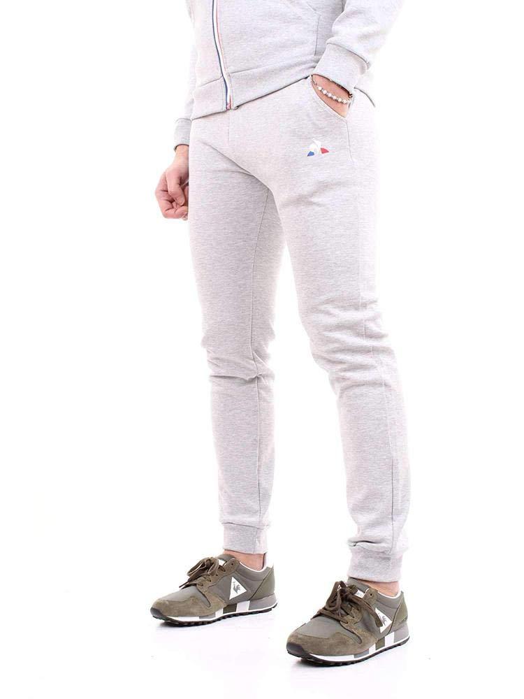 Pantaloni Uomo le coq Sportif Ess Pant Slim N/°1 M Gris Chin/é Clair