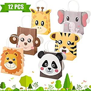 Outus Jungle Safari Party Favor Bolsas Zoo Animales ...
