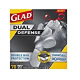 Glad ForceFlex Extra Strong Extra Large Tear Resistant Drawstring 33 Gallon, 70 Count Trash Garbage Bags