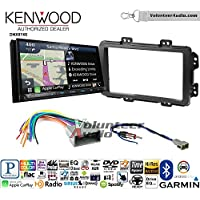 Volunteer Audio Kenwood DNX874S Double Din Radio Install Kit with GPS Navigation Apple CarPlay Android Auto Fits 2013-2014 Honda Civic (With Factory Nav)