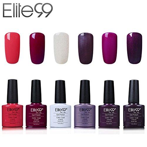 92 opinioni per Elite99 Smalto Semipermente per Unghie in Gel UV LED 6 Colori Kit per Manicure