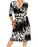 Blue Banana - Black and White Patterned Wrap Dress