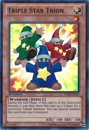 Yu-Gi-Oh! - Triple Star Trion (ZTIN-EN019) - 2013 Zexal Collection Tin - 1st Edition - Super Rare