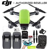 DJI Spark Portable Mini Drone Quadcopter Essential Palm Landing Pad Bundle (Meadow Green)